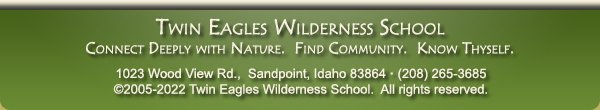 Twin Eagles Wilderness School eNewsletter
