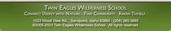 Twin Eagles Wilderness School eNewsletter